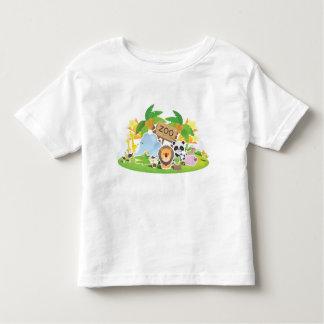 Cute Cartoon Zoo Animals Toddler T-shirt