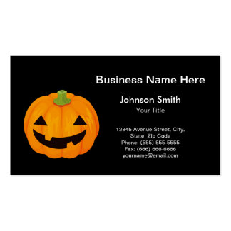 Cute Carved Halloween Pumpkin Double-Sided Standard Business Cards (Pack Of 100)