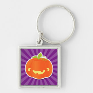 Cute Carved Pumpkin Design Keychain