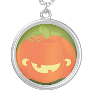 Cute Carved Pumpkin Design Necklaces