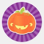 Cute Carved Pumpkin Design Stickers
