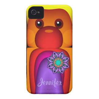 Cute case with Funny Fantasy Animal and Name Blackberry Cases