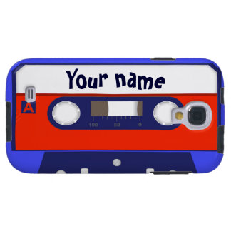 Cute cassette tape custom with name or monogram galaxy s4 case
