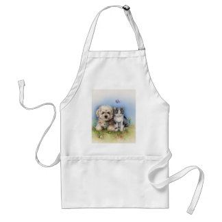 Cute cat and dog apron
