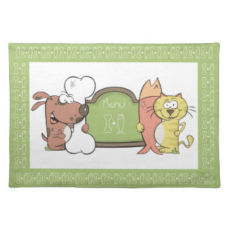Cute Cat and Dog placemats