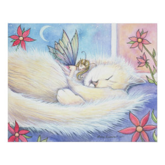 Cute Cat and Fairy Poster by Molly Harrison