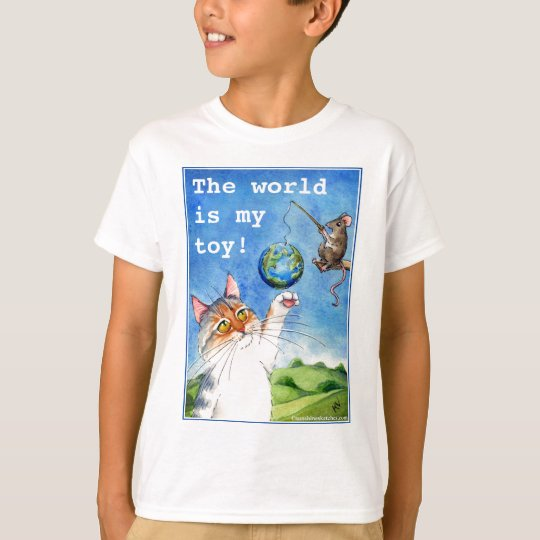 Cute Cat and Mouse Earth Day T-Shirt