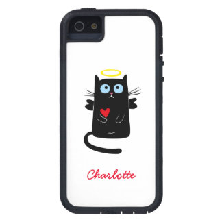 Cute Cat Angel with Heart Customizable Name iPhone SE/5/5s Case