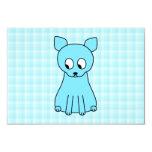 Cute Cat. Aqua Color Cat. Custom Invites