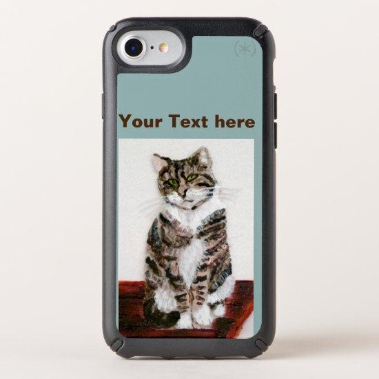 Cute Cat Art Grey Tabby Speck iPhone Case