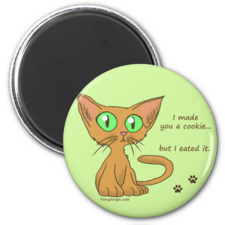 Cute Cat Ate Your Cookie Magnet