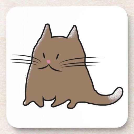 Cute Cat Beverage Coaster Zazzle