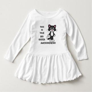 Cute Cat Big Sister Awesomeness Toddler Dress