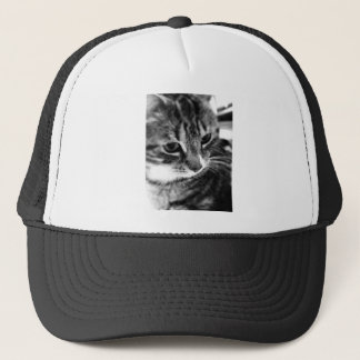 Cute Cat black and white designs Trucker Hat