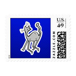 Cute Cat; Blue Postage