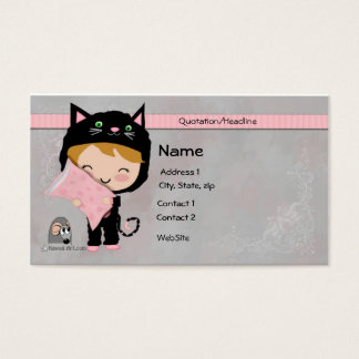 Cute Cat Business Card