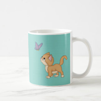 Cute Cat Butterfly Coffee Mug