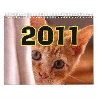 cute cat calendar  2011