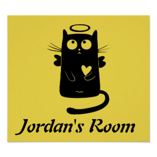 Cute Cat Child's Room Nursery Poster