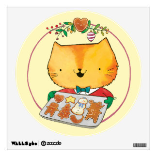 Cute Cat Christmas Wall Decals