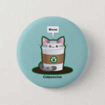 Cute Cat Coffee Button