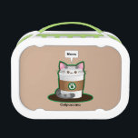 """Cute Cat Coffee - Catpuccino Lunch Box<br><div class=""""desc"""">A kawaii style combo of two popular items – cats and cappuccinos. It's a cappuccino! Just another pun from Kimchi Kawaii.</div>"""