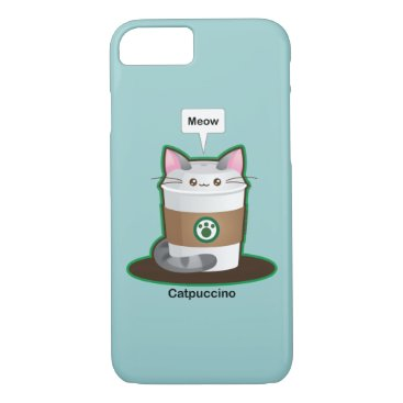 Coffee Themed Cute Cat Coffee iPhone 8/7 Case