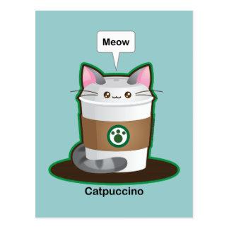 Cute Cat Coffee Postcard