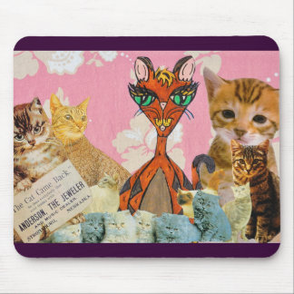 Cute Cat Collage 2 Mouse Pad