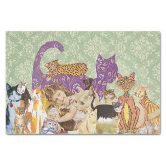 Cute Cat Collage 3 Tissue Paper