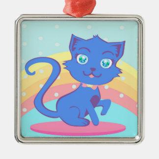 Cute cat Decoration Metal Ornament