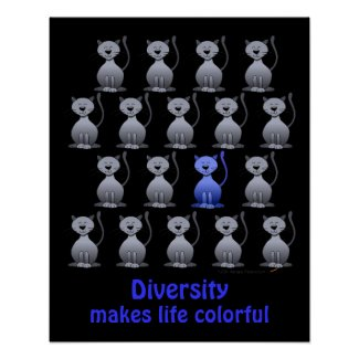 Cat Diversity Poster for School