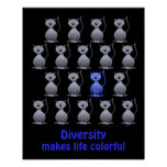 Cute Cat Diversity Poster for Kids Motivational