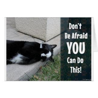 Cute Cat Do Not Be Afraid Card