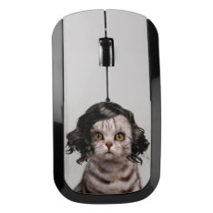 Cute Cat Doll Personality Of A Cat Wireless Mouse at Zazzle