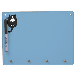 Cute Cat Dry Erase Board With Keychain Holder