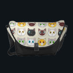 """Cute Cat Expressions Pattern Messenger Bag<br><div class=""""desc"""">Cute Cat Expressions Pattern</div>"""