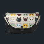 "Cute Cat Expressions Pattern Messenger Bag<br><div class=""desc"">Cute Cat Expressions Pattern</div>"