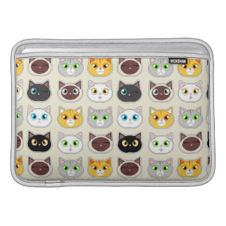 Cute Cat Expressions Pattern Sleeves For MacBook Air