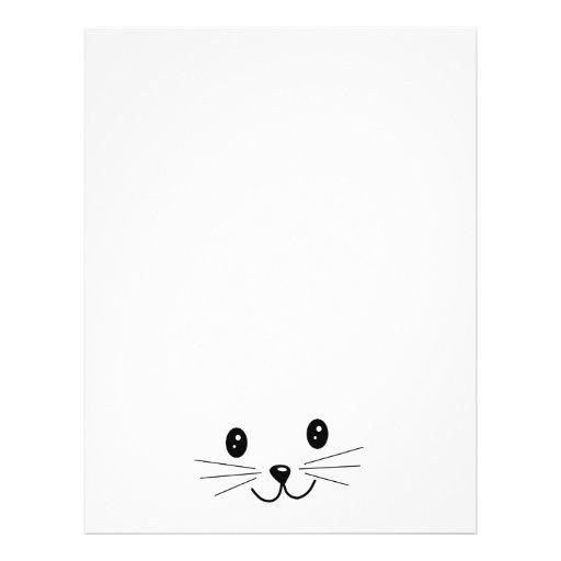 """Cute Cat Face. 8.5"""" X 11"""" Flyer"""