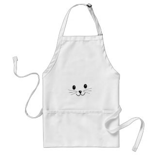 Cute Cat Face. Adult Apron