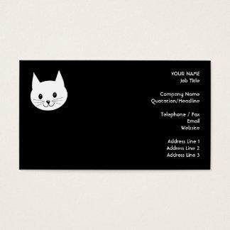 Cute Cat Face. Business Card