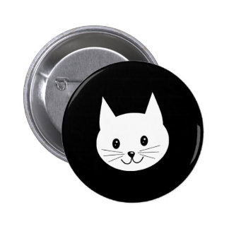 Cute Cat Face. 2 Inch Round Button