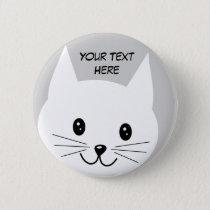Cute Cat Face. Button
