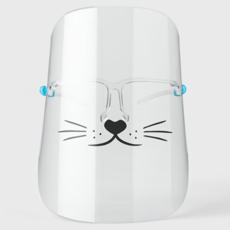 Cute Cat Face Cartoon Face Shield