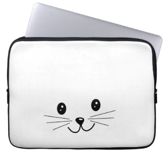 Cute Cat Face. Computer Sleeve