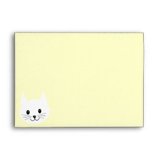 Cute Cat Face Envelope