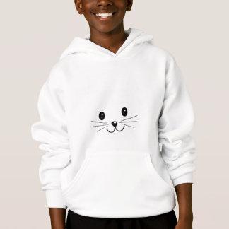 Cute Cat Face. Hoodie