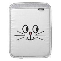Cute Cat Face. iPad Sleeve