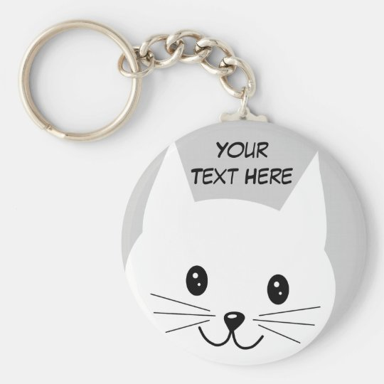 Cute Cat Face. Keychain